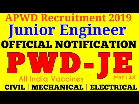 APWD Recruitment 2019 || Public Works Department
