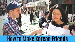 How to Make Korean Friends in Korea | Korean Interviews