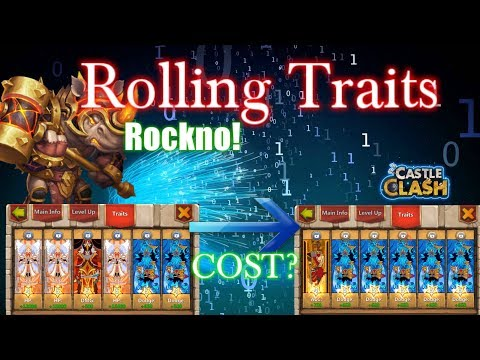 Rolling Traits For Rockno 5star Dodge COST? Castle Clash