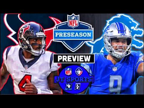 Houston Texans vs Detroit Lions Preview | NFL Preseason 2019 Week 2