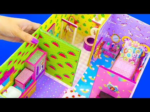 DIY Miniature Dollhouse in a Shoebox