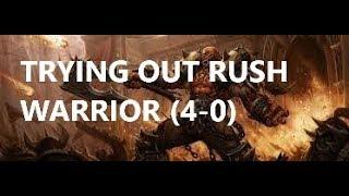 (Hearthstone) (4-0) Rush Warrior   Witchwood   Season 49