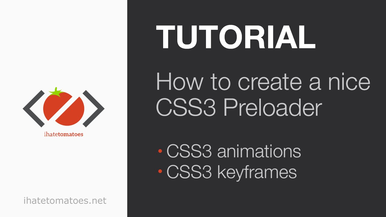 How To Create A CSS3 Spinning Preloader | CSS3 Tutorial