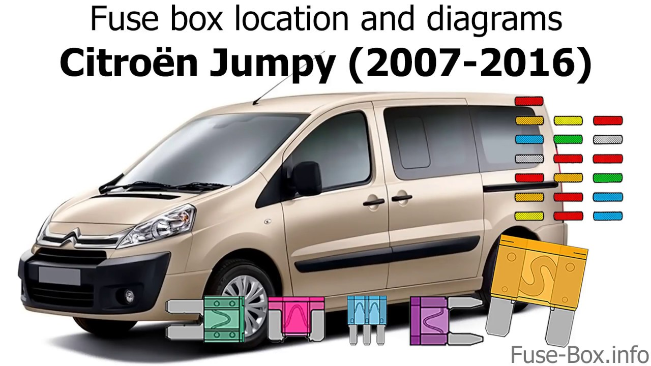 fuse box location and diagrams citroen jumpy 2007 2016  [ 1280 x 720 Pixel ]