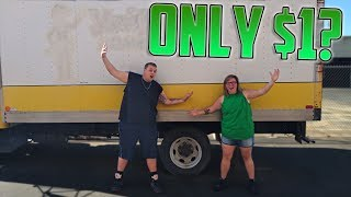 HUGE BOX TRUCK Found At Storage Unit Auction! I Bought An Abandoned Storage Unit