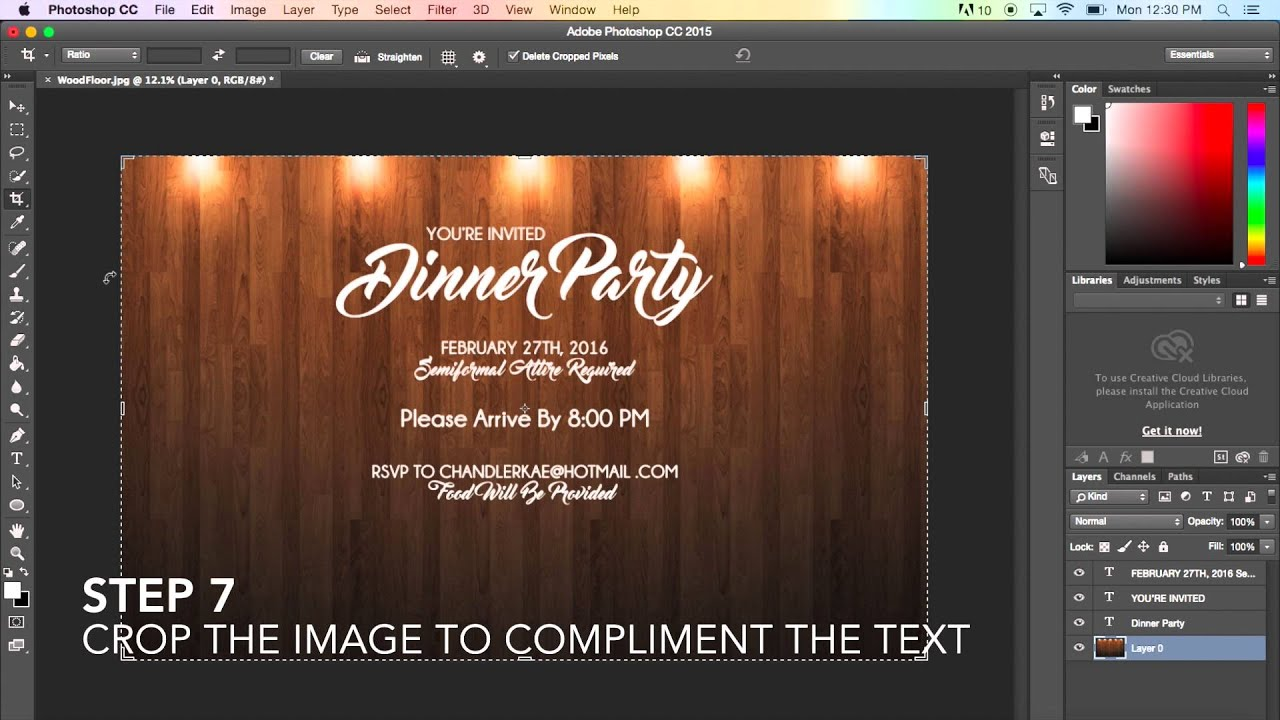 creating a basic flyer using photoshop cc 2015
