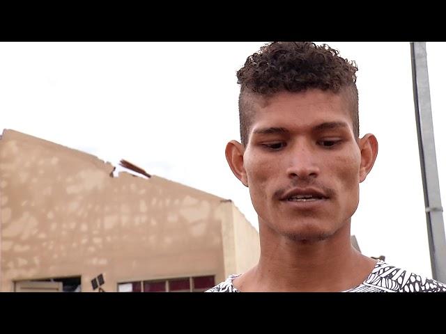Vendaval destrói casas do bairro Vespasiano Martins em Campo Grande