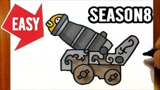 How to draw Fortnite Season 8 weapon【Pirate Cannon & FISHSTICK】Easy & Cute drawing Jolly Art NEGI