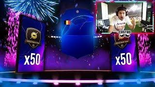 MY DIVISION RIVALS REWARDS!! 50 UCL PACKS!! FIFA 19