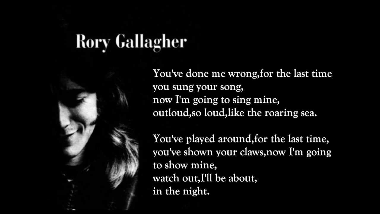 for the last time rory gallagher lyrics on screen youtube
