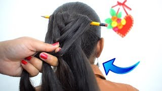 easy and amazing juda hairstyle with Pencil || न Clutcher न Bun Stick बस PENCIL से Hairstyles बनायें