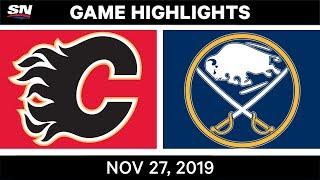 NHL Highlights   Flames vs. Sabres – Nov. 27, 2019