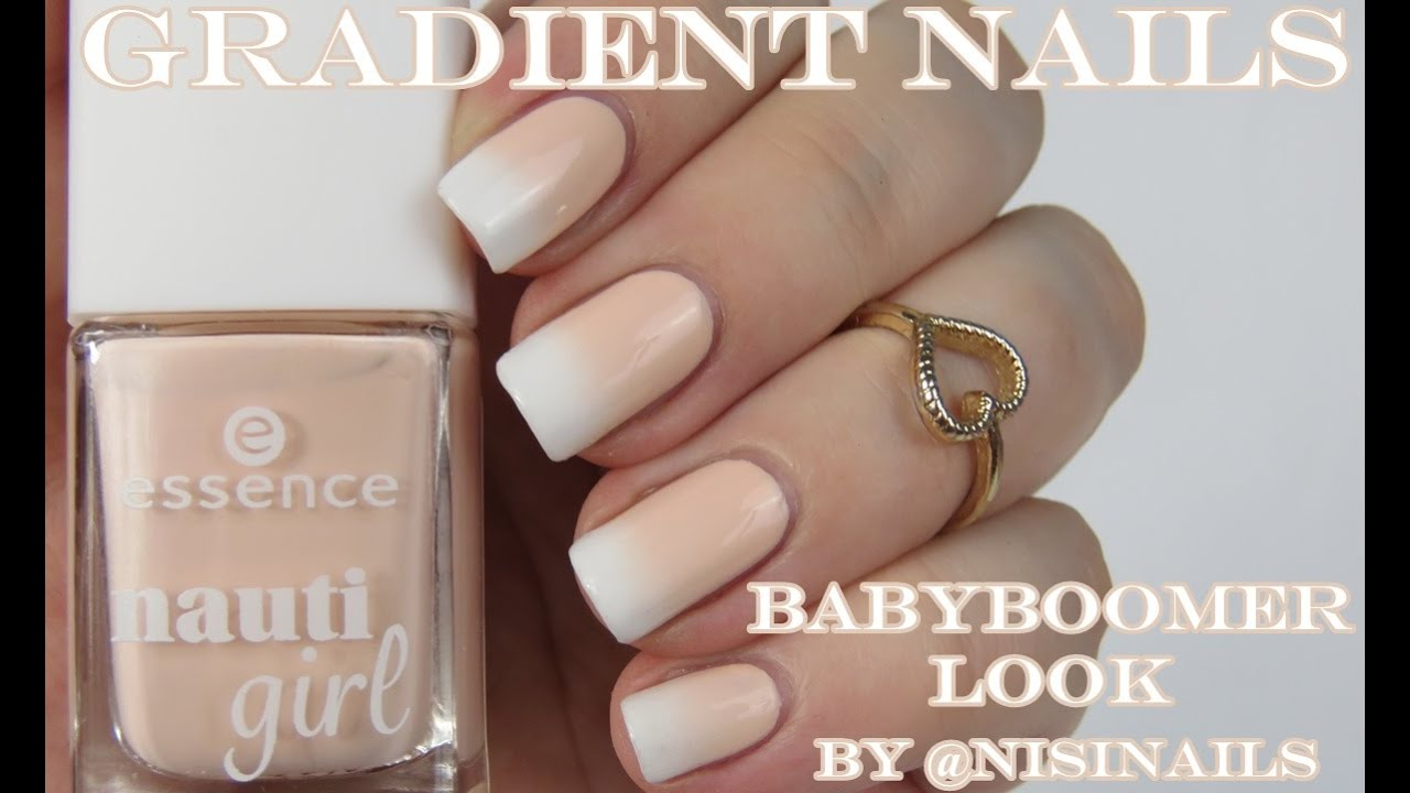 Gradient Nails: Inspired by Babyboomer Look - YouTube