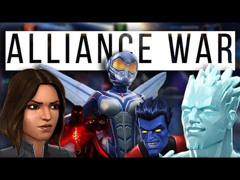 Alliance War  H8FL8 Vs ØMNÎ  Wasp Mini  Nightcrawler Mini  Marvel Contest of Champions
