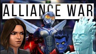 Alliance War | H8FL8 Vs ØMNÎ | Wasp Mini | Nightcrawler Mini | Marvel Contest of Champions