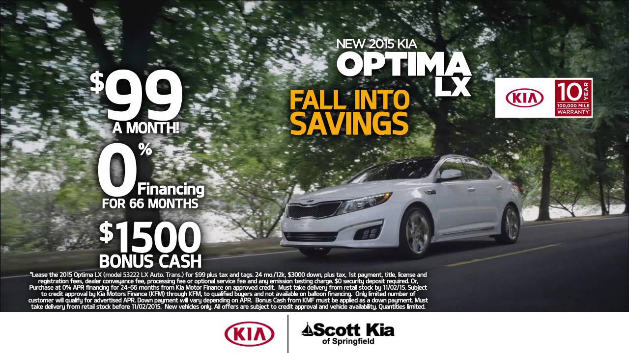 Kia Optima Lease 99 >> Scott Kia Of Springfield Lease The 2015 Kia Optima For 99 Month