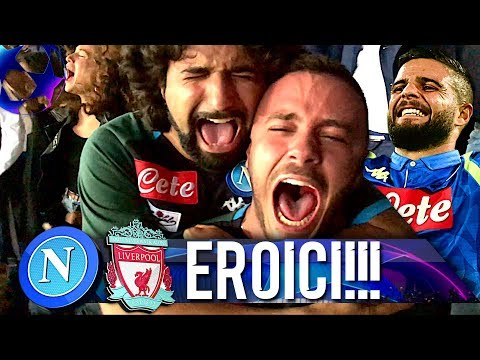 EROICI!!! NAPOLI 1-0 LIVERPOOL | LIVE REACTION SAN PAOLO CHAMPIONS LEAGUE 4K