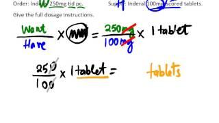 Tablet Calculation Formula Method