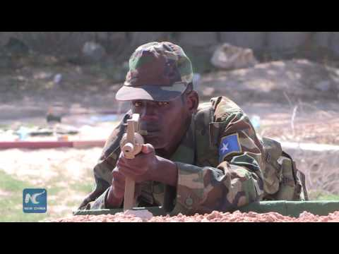 Somalia National army troops graduate from combat course