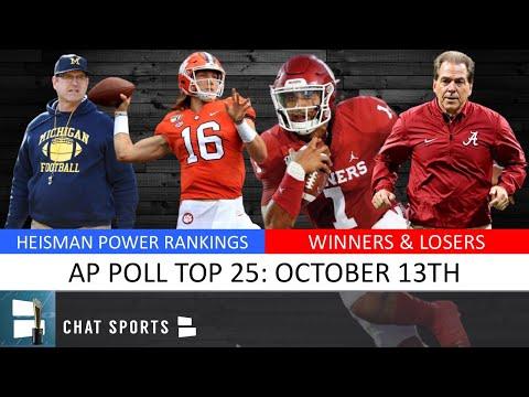 ap-poll:-college-football-top-25-rankings-for-week-8-+-heisman-trophy-power-rankings
