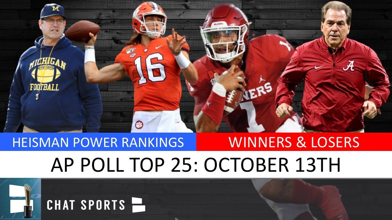 College Football Rankings for Week 8 (10/13/19)