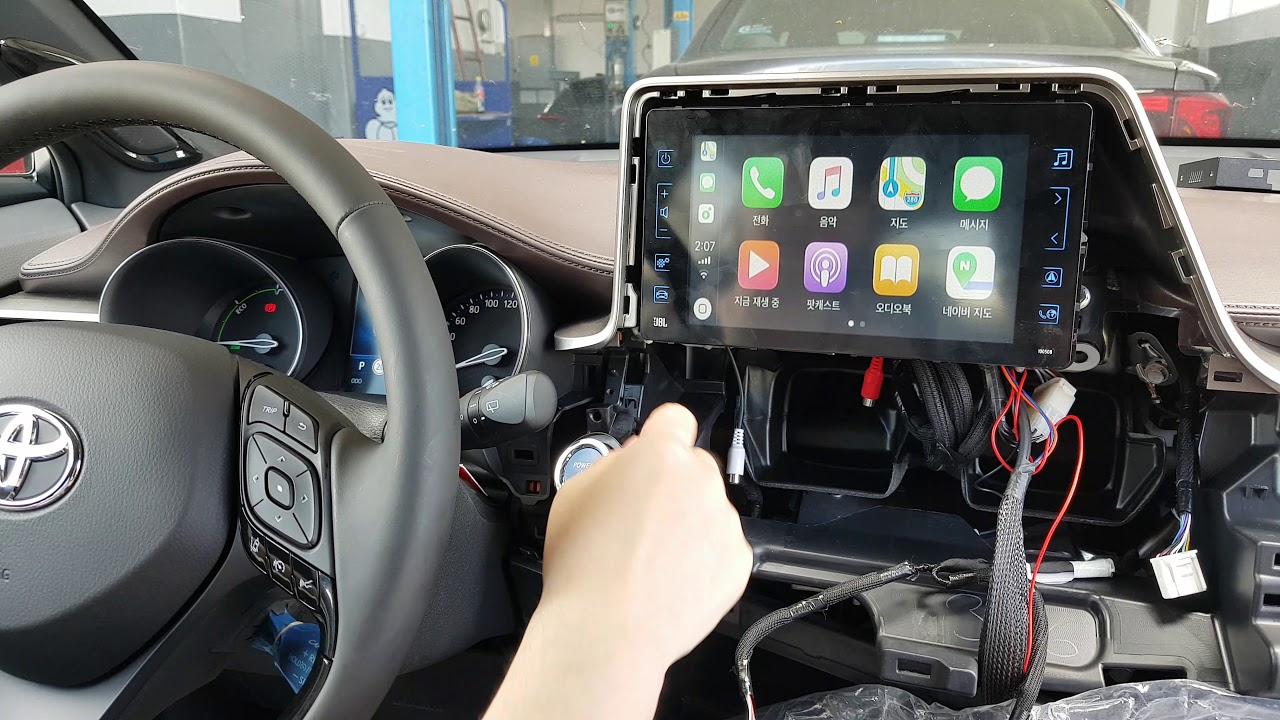 Toyota C-HR Romania Apple CarPlay & Android Auto OEM Retrofit by TNGCB  Module