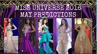 Miss Universe 2016 May Predictions