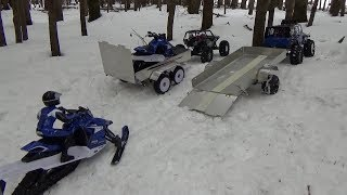 Yamaha rc snowmobile sr viper on trailer and ride.Before convertion brushless.