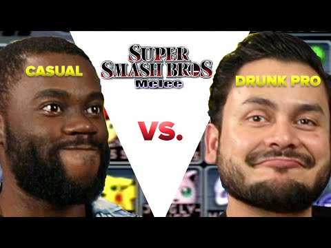 Casual VS Drunk Pro  Super Smash Bros Melee