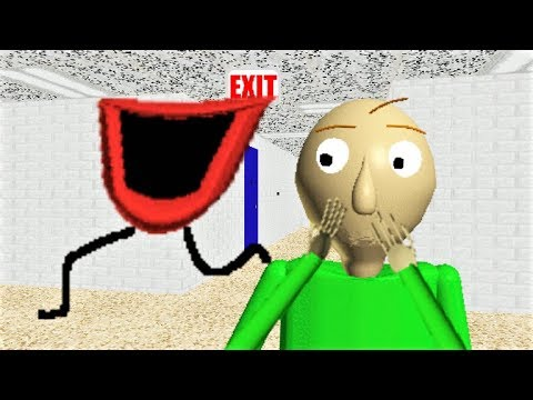 BALDI LOST HIS VOICE!! HIS MOUTH JUST RAN AWAY!! | Baldi's Basics MOD: Baldi Lost His Voice