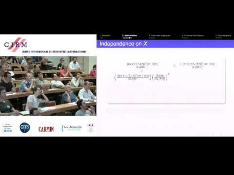 Enric Ventura: The degree of commutativity of an infinite group