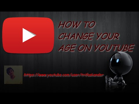 how to change your age on youtube on your phone