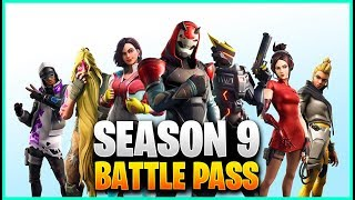 *NEW* SEASON 9 BATTLEPASS In Fortnite! All Skins, Emotes, Gliders, And More!