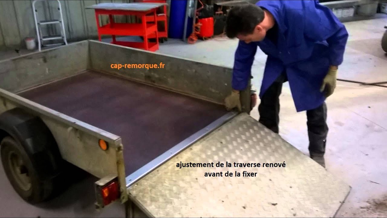 changement plancher de remorque youtube. Black Bedroom Furniture Sets. Home Design Ideas