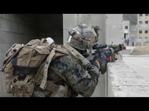 U.S. Marines with the 1st Marine Division participate in military operations(MOUT) Supersquad 2020
