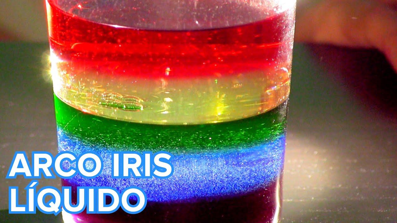 Cómo hacer un arco iris líquido | Experimento para niños