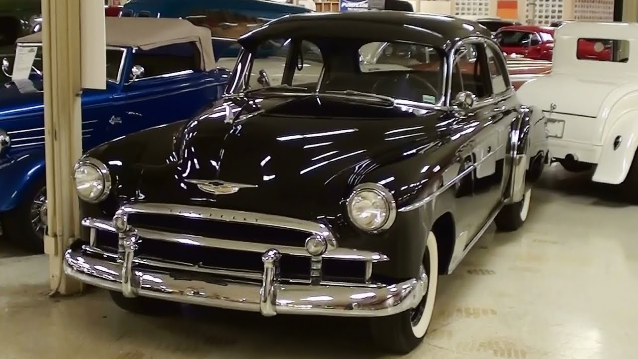 hight resolution of 1950 chevrolet deluxe 2 dr frame off restoration original 235 inline six youtube