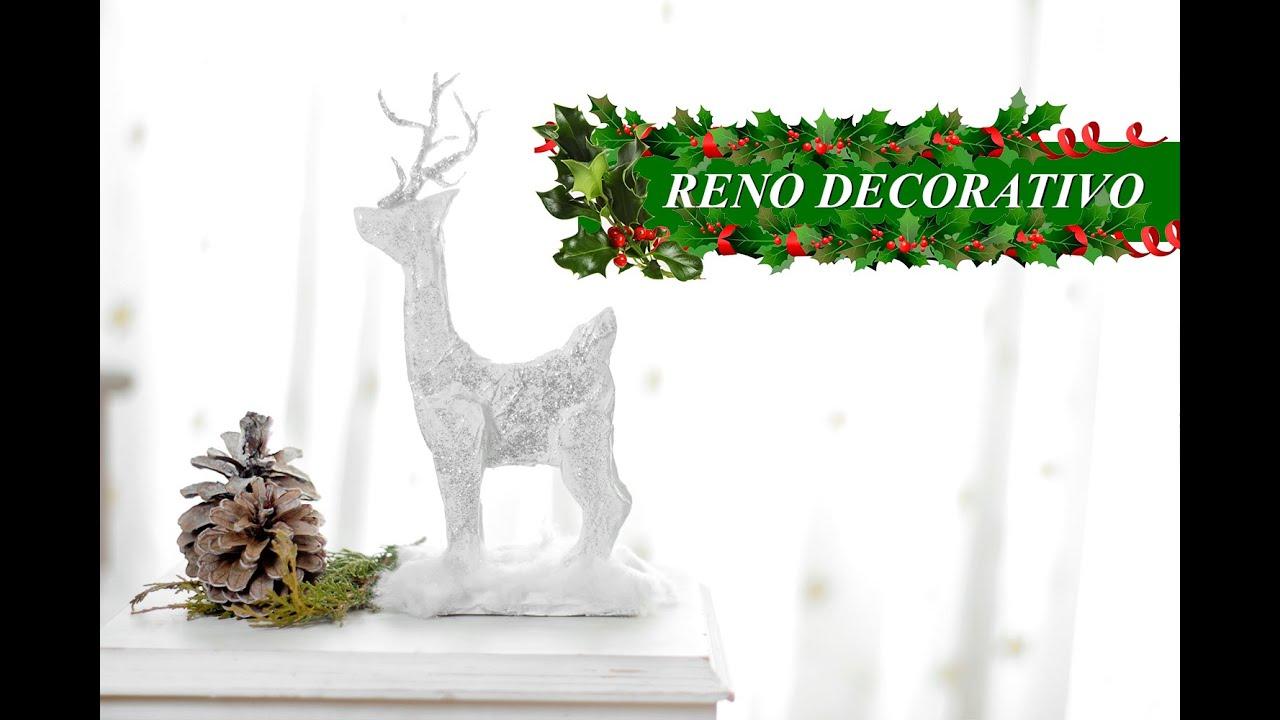 Haz un reno navide o decorativo facil reciclando youtube for Menu navideno facil de hacer