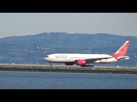 Air India 777-200 Departing From San Francisco International Airport