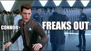 Detroit Become Human - Machine Connor Freaks Out & Connor Gives All The Wrong Answer (All Dialogue)