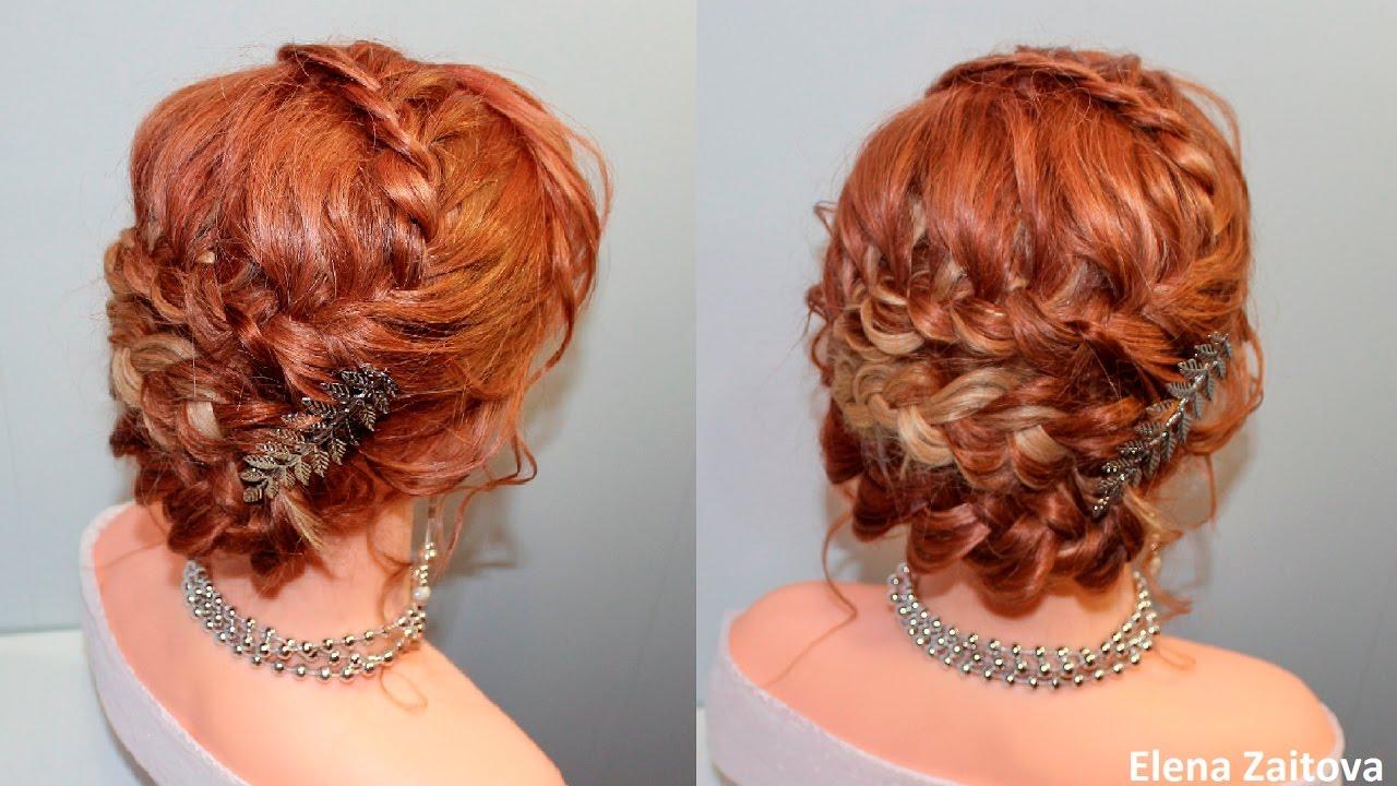 Прически плетение кос легкие