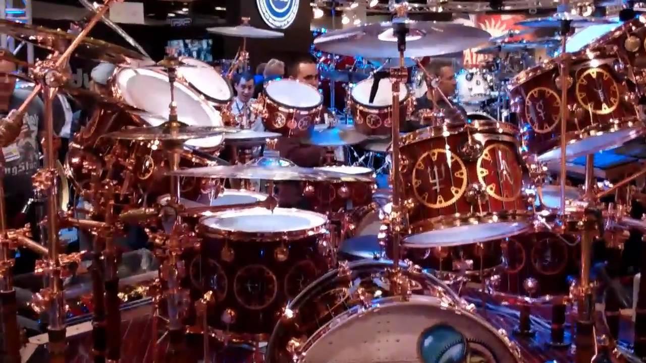 2011 Namm Show Neal Peart S Drum Kit 2010 Timemachine Tour