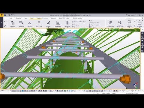 How to create  an outdoor advertising V-shaped billboard structure in Tekla Structures 2018