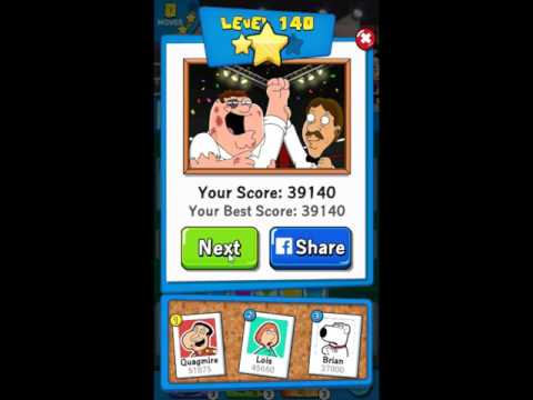 Family Guy Another Freakin Mobile Game Level 140 - NO BOOSTERS