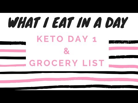 Day 1 of Keto What I Eat In A Day