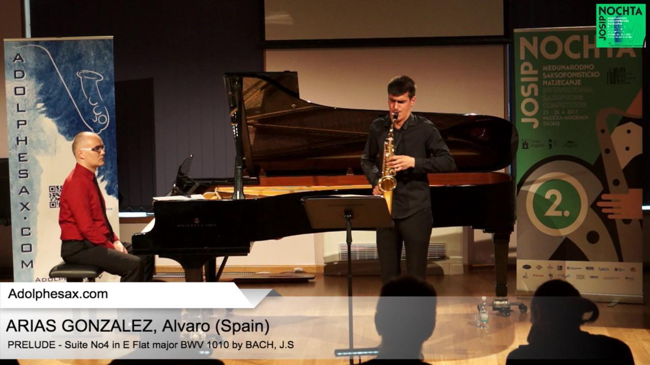 Johann Sebastian Bach – Suite No 4 in E- at major BWV 1010 Pre?lude – ARIAS GONZALEZ, Alvaro (Spain)