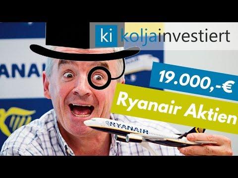 Für 19.000 € Ryanair Aktien ins Depot gekauft #KapitalismusSpende