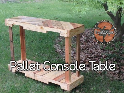 Console Table Built From 100% Pallet Lumber