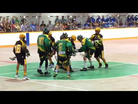 Team Saskatchewan Faces Off Against Manitoba At The Canadian Bantam Box Lacrosse Championships