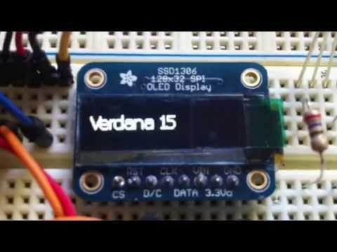 Fonts and Scrolling on the Adafruit SSD1306 OLED